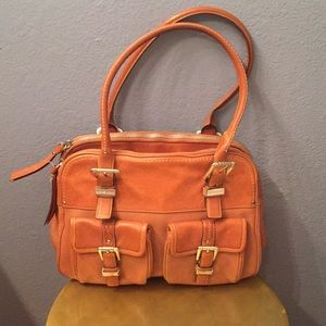 🌟MICHAEL KORS- VINTAGE COGNAC LEATHER HANDBAG🌟